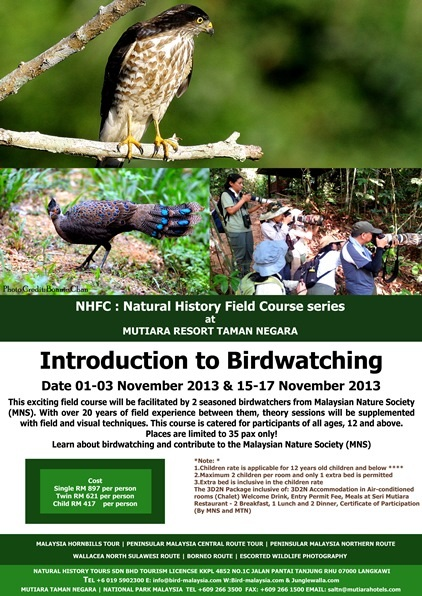 Natural History Field Course series at Mutiara Resort Taman Negara